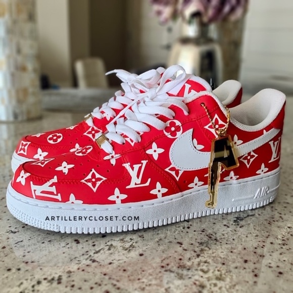 Nike Air Force 1 One Supreme X LV custom sneaker